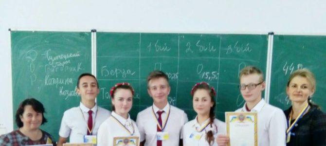 Команда «Калина» Сокирянського району в призерах на обласному турнірі юних географів